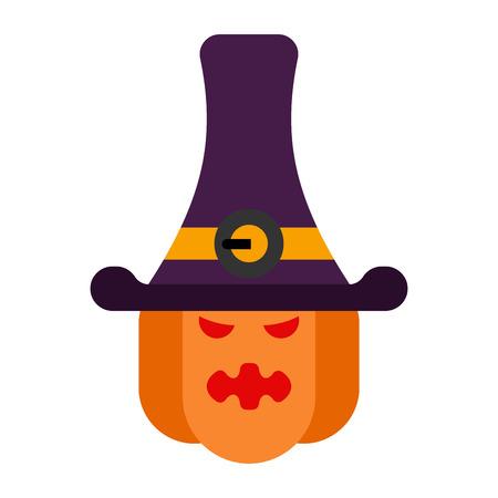 Angry pumpkin for Halloween. 矢量图像