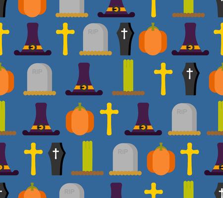 Halloween pattern. 矢量图像