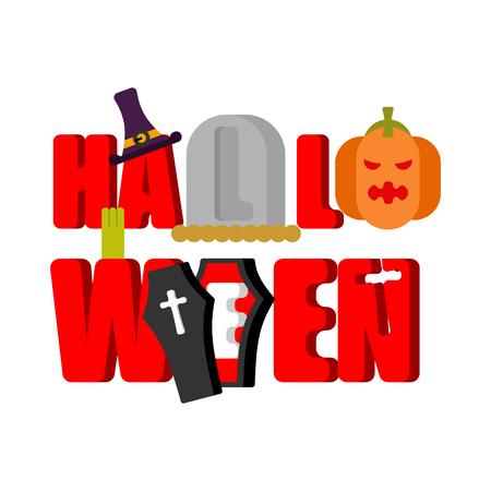 Halloween lettering.
