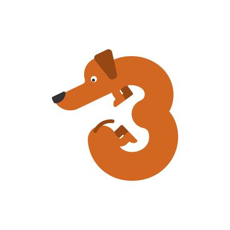 Figure 3 dog. 矢量图像