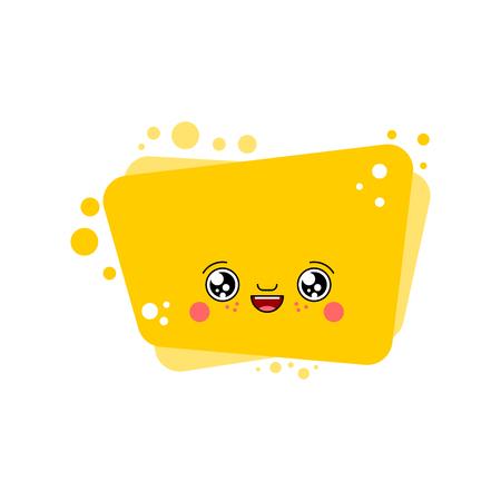 kawaii bubble Cute cartoon. Funny vector illustration
