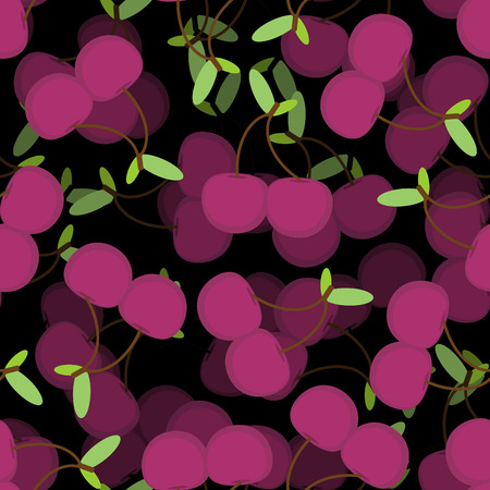 Cherry pattern seamless. Cherries background. food vector texture 矢量图像