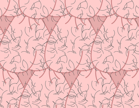 Scrotum pattern seamless. Mans balls Hairy background. Male texture. Testosterone ornament