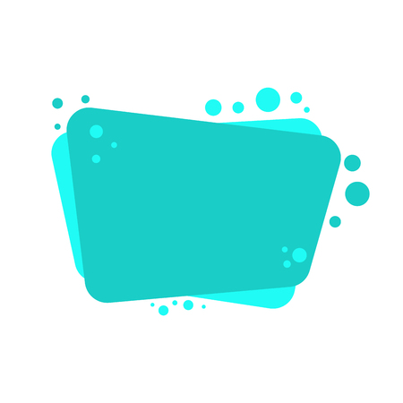 bubble cartoon isolated. Place for text vector illustration
