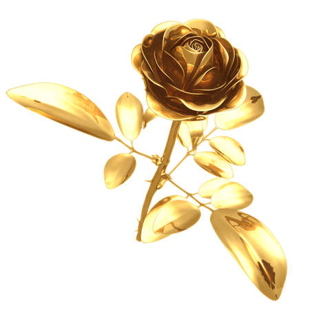 Gilded Rose 3D Stock Photo