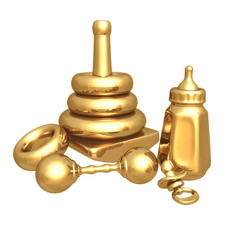 Gilded  Items 3D photo