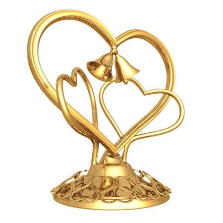 topper: Gilded Heart Topper