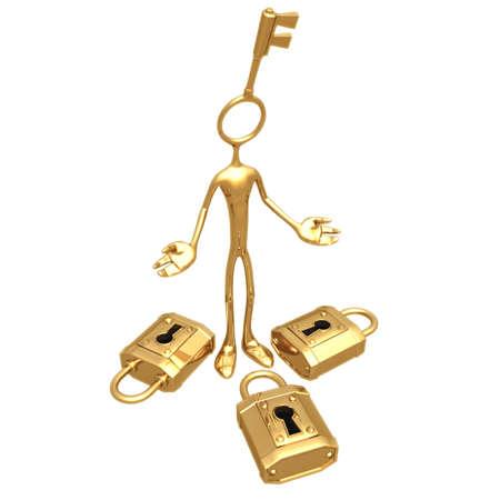 Welke Lock? Stockfoto