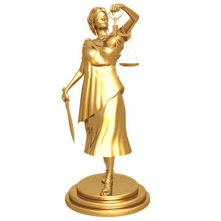 blindfold: Gilded Lady Justice
