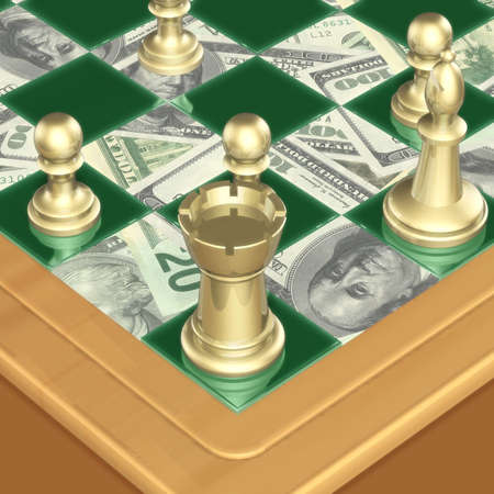 Finance Chess 01 Stock Photo - 342374