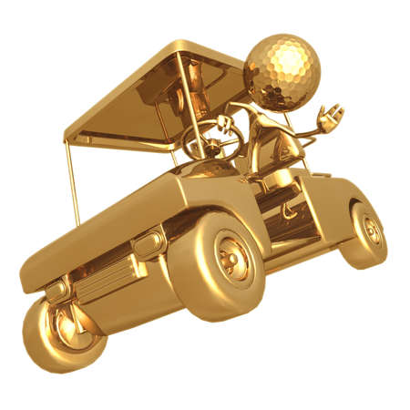 reckless: Reckless Golfcart Stock Photo