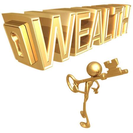 idioms: Key to Wealth Stock Photo