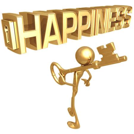 hapiness: Key to Happiness Stock Photo