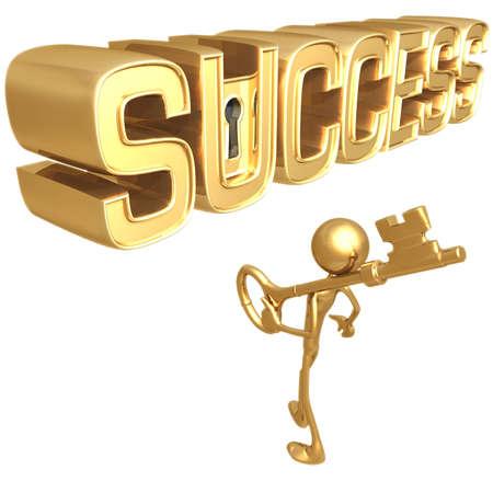Sleutel tot succes Stockfoto
