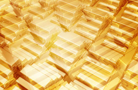 Gold Bars Background 3D Stock Photo