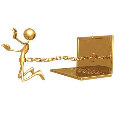 chained: Chained To Laptop