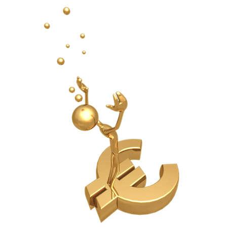 ahogarse: Drown deuda en euros  Foto de archivo