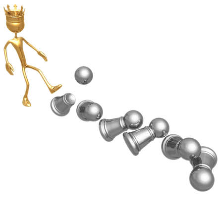 Pawn Tipping Stock Photo