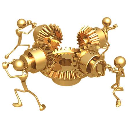 icon idea idiom illustration: Teamwork Gears