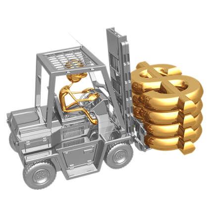 icon idea idiom illustration: Forklift Dollar Stock Photo