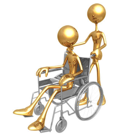 idioms: Wheelchair Assistance Stock Photo