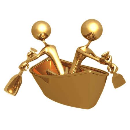 opposing: Opposing Rowing Stock Photo