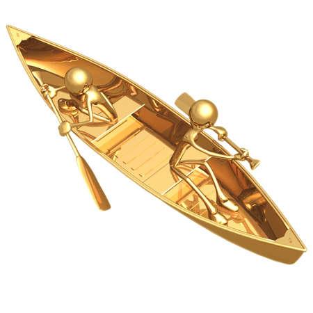 rowboat: Opposing Rowing Stock Photo