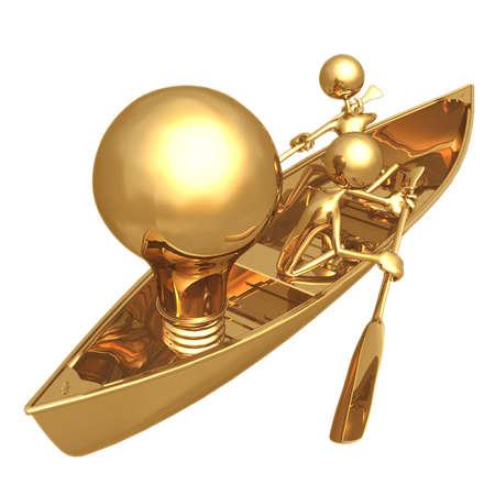 Rowboat Idea Stock Photo
