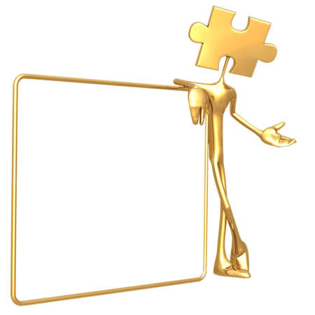 icon idea idiom illustration: Puzzle Hold Sign
