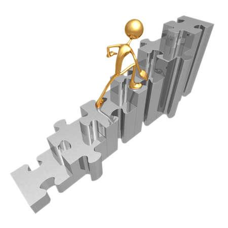 icon idea idiom illustration: Puzzle Stairs