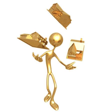 lending: Real Estate Juggle Stock Photo