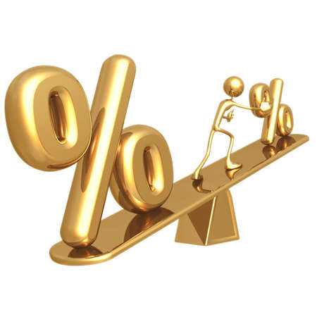 percentage sign: APR Balance Stock Photo