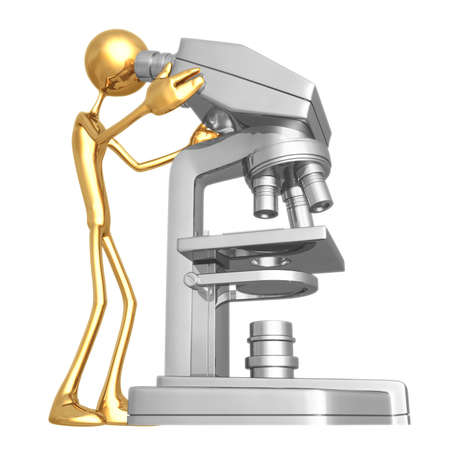 see a doctor: Microscope Stock Photo