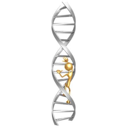 idioms: Climb DNA Stock Photo