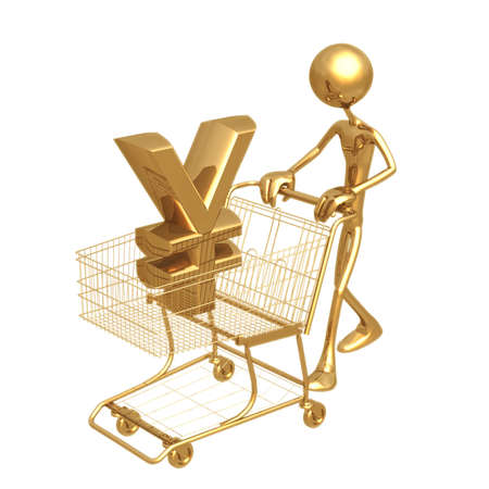Shopping Cart Yen Stock Photo - 820741