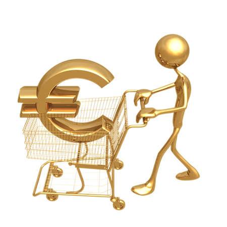 Shopping Cart Euro Stock Photo - 820743