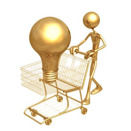 Shopping Cart Idea Stock Photo