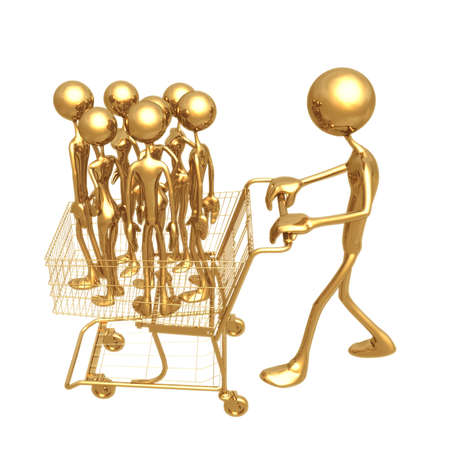 Shopping Cart Workforce Stock Photo