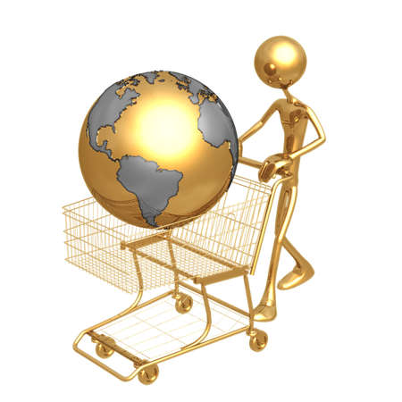 Shopping Cart World Stock Photo