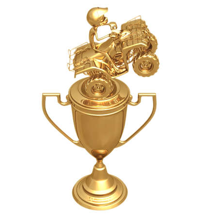 atv: ATV Trophy Stock Photo
