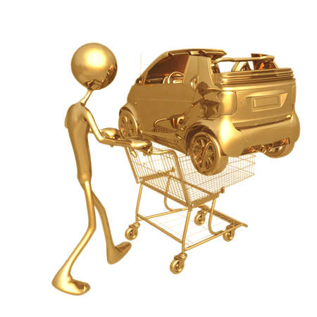 Shopping Cart Car Stock Photo