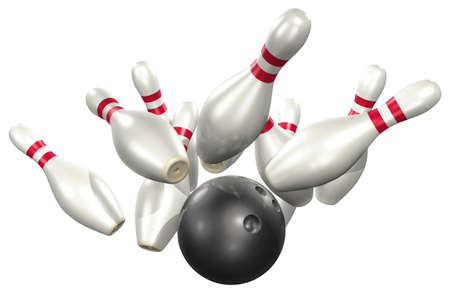 lanes: 3d Bowling Stock Photo