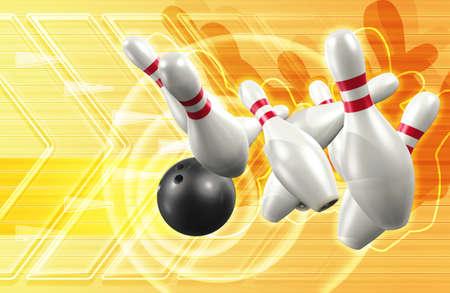 3d Bowling photo