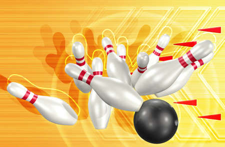 3d Bowling Stock Photo
