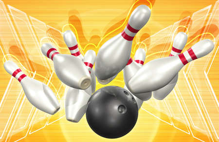 Bowling 3D Stock Photo - 820892