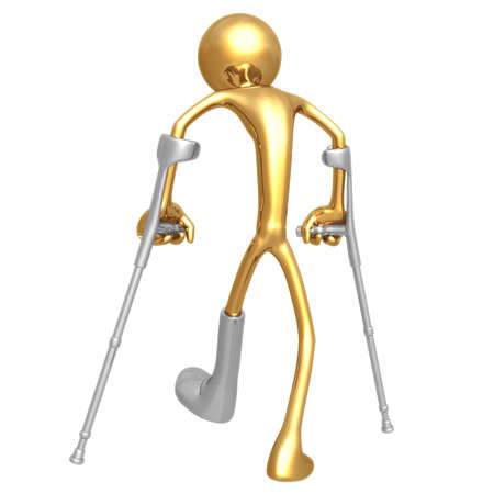 health issue: Crutches Stock Photo