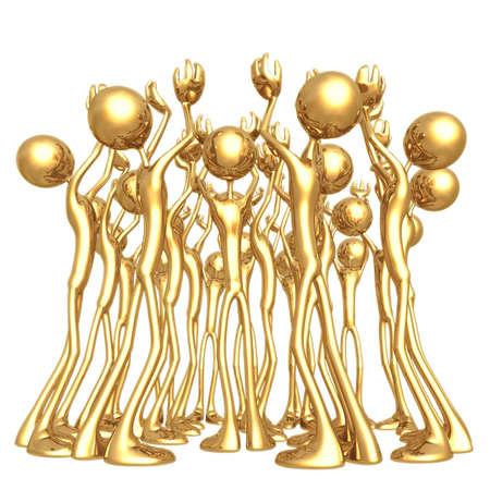 icon idea idiom illustration: Reaching Crowd