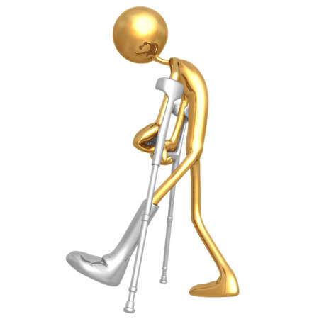 physiotherapy: Crutches Stock Photo