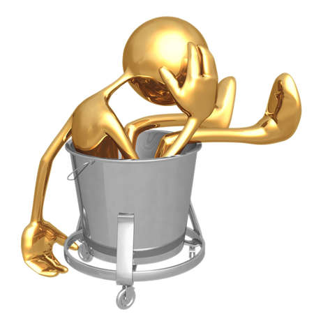 Waste Bucket Stock Photo