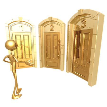 guess: Door Decision Stock Photo